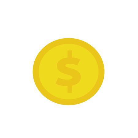 Coin flat icon. Illustration