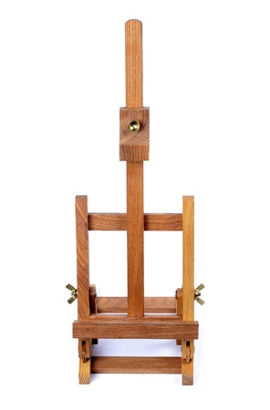 easel for painting  tripod for painting without canvas  standing on a white background  photo