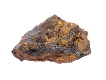 gemology: Mineral Goethite isolated on a white background  Stock Photo