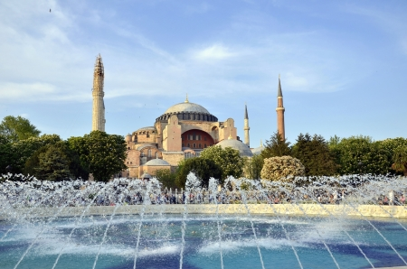 Famous  Hagia Sophia, the famous historical building of Istanbul