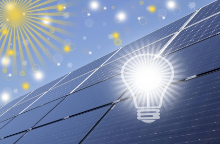Solar energy panels, renewable solar energy  Sustainable development of the environment
