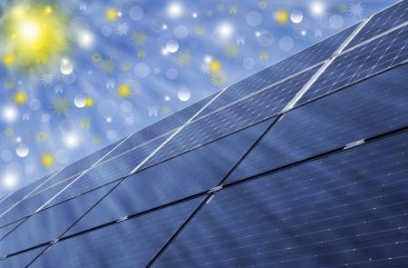 Solar energy panels, renewable solar energy  Sustainable development of the environment