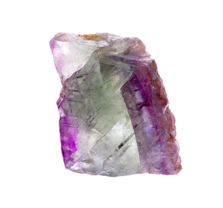 fluorite: mineral fluorite isolated on a white background