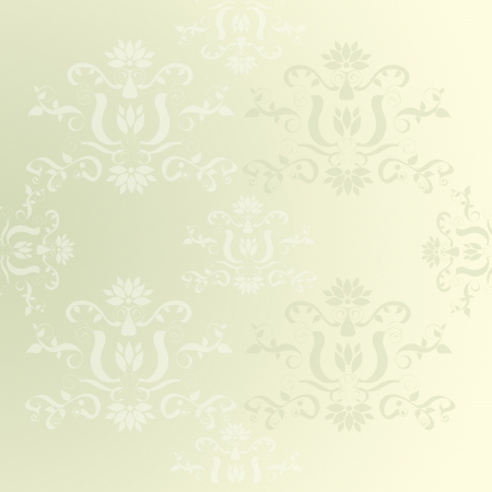 Medieval floral seamless in damask style for design photo