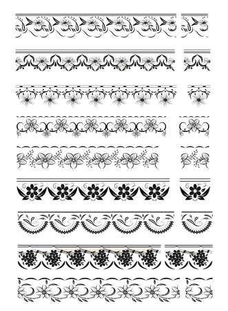 Set of lace trims on a white background. photo