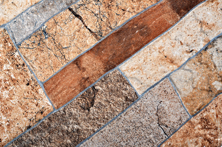 ���wall tiles���: Texture tile in brown range, decorative wall tiles with fugue  Stock Photo