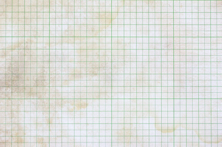Old vintage dirty graph paper Stock Photo