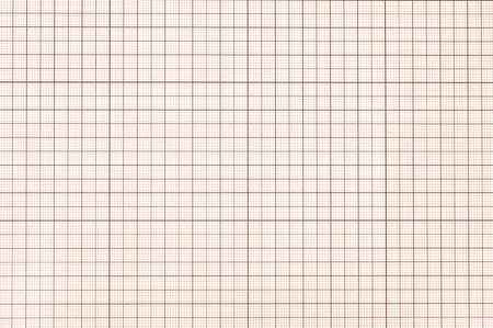 Old sepia graph paper square grid background.  Stock Photo