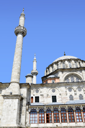 Detail of the architecture of the  mosque in Istanbul, Turkey  photo