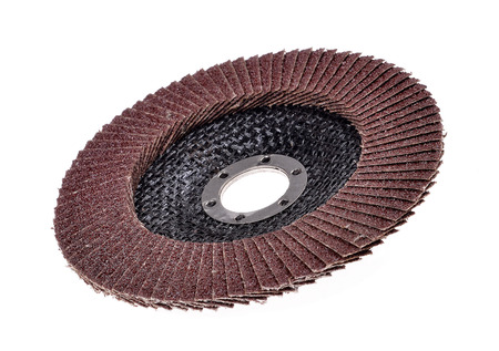 Abrasive disk for metal grinding  Stock Photo
