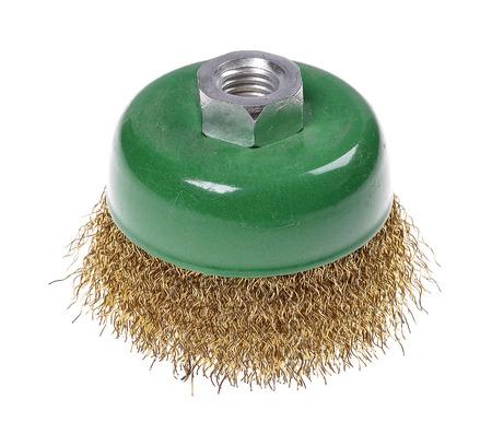 rotating metal brush or grinding disk  photo