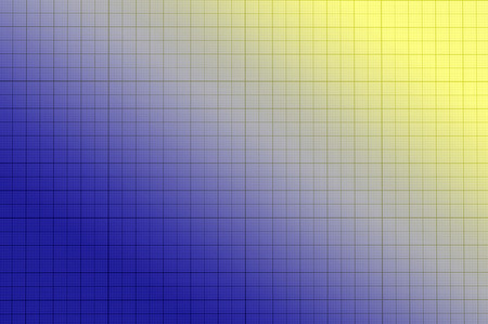 grid paper: Blank millimeter old yellow  blue paper grid sheet background or texture