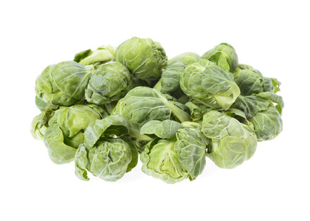 compromised: brussels sprouts compromised   isolated on white background