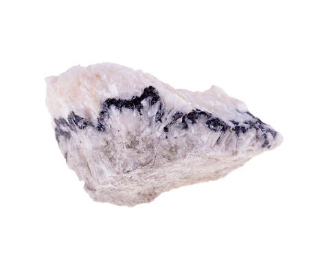 dolomite: mineral dolomite  isolated on a white background Stock Photo