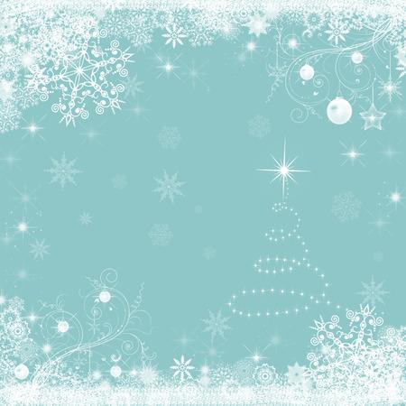 schneeflocke: Weihnachtsurlaub blauen Hintergrund mit Schneeflocken