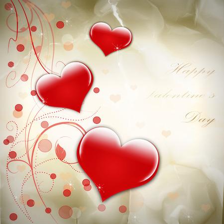 st  valentine's: Golden abstract grunge background st valentines day