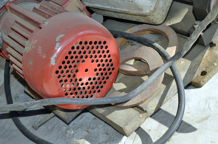 removed: Removed old electric motor in place for waste