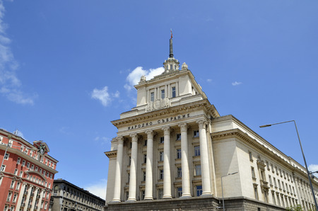 classicism: Sofia, Bulgaria - Largo building. Seat of the unicameral Bulgarian Parliament (National Assembly of Bulgaria). Example of Socialist Classicism architecture. Editorial