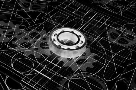 metal ball: rusty metal ball bearing,infrared image Stock Photo