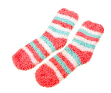 childrens socks isolated on white