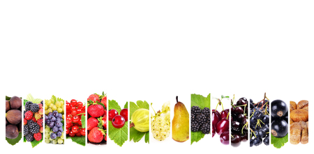 Fresh fruits . Healthy food background  with text space