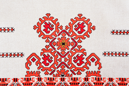 embroidery with cotton threads
