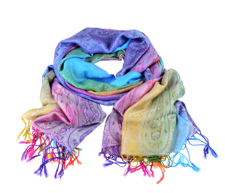 Womens scarf  isolated white background Stock Photo