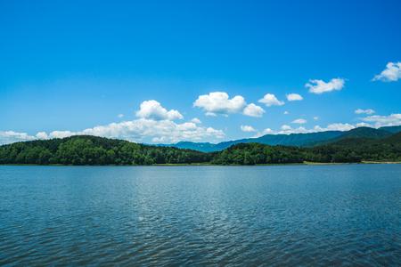 Lake Hwajinpo in Goseong-gun, Gangwon-do and beautiful sky