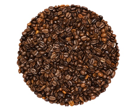 coffee grains: Coffee grains on a white background