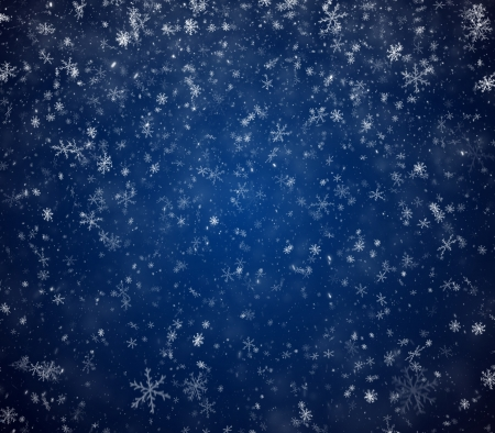 winter background: The winter background, falling snowflakes