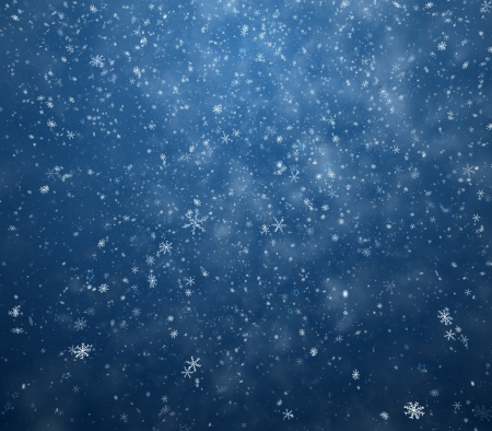 snow background: The winter background, falling snowflakes