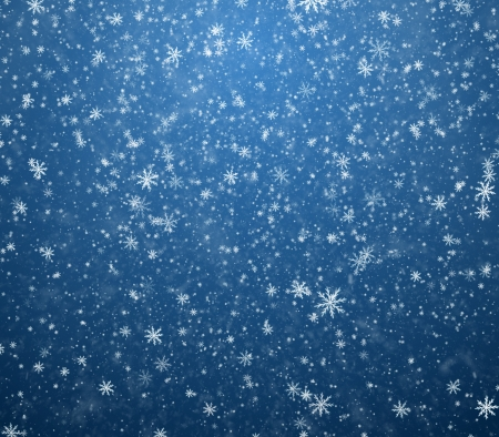 The winter background, falling snowflakes