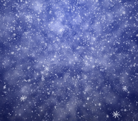 The winter background, falling snowflakes photo