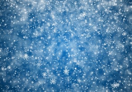 Falling snowflakes, snow background photo