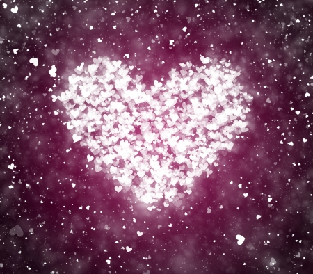 valentine s day background: Valentine s day background with hearts and particles