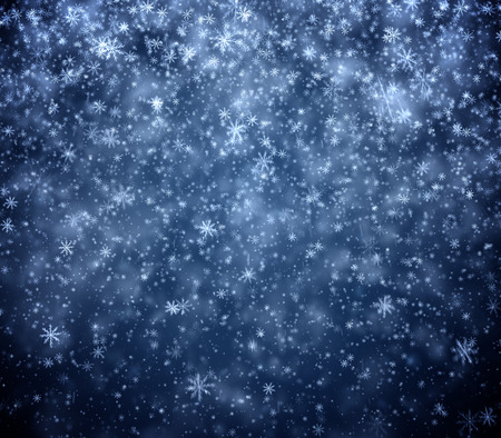 frosty: Frosty winter New Years background, falling snowflakes