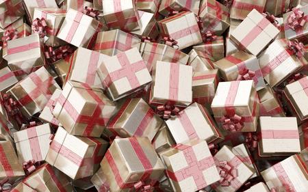 Gift boxes, 3d illustration