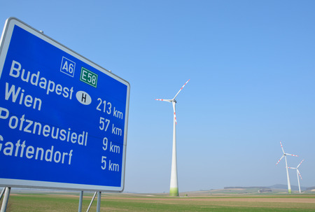 europe: Wind turbines in Europe Stock Photo
