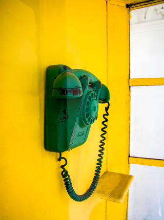 oldstyle: Yellow Phonebox