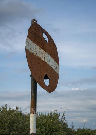no way: Old sign no way