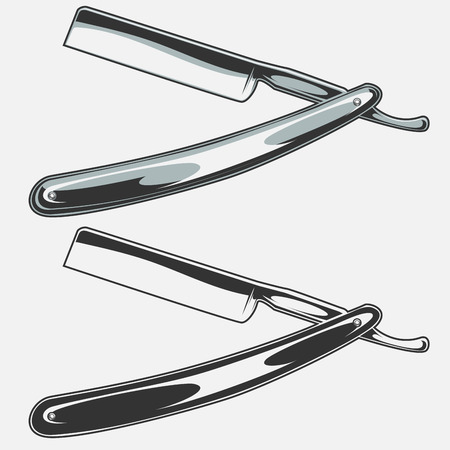 straight razor: vector illustration of a straight razor