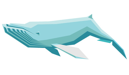 humpback: isolated vector illustration of a floating humpback whale Illustration
