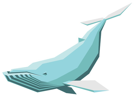 humpback: isolated vector illustration of a humpback whale