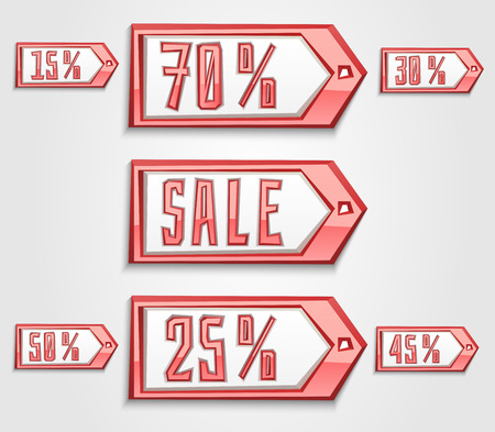 house clearance: set of angular sale tags and labels Illustration