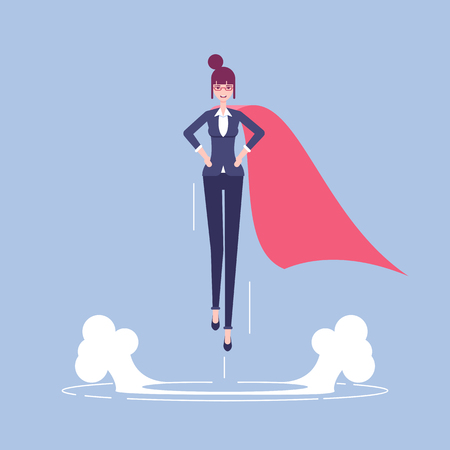 Super businesswoman illustration Illusztráció