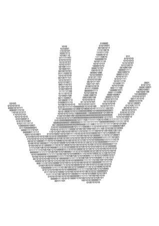 Digital hand  silhouette Vector
