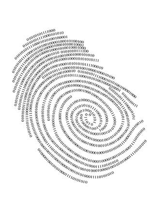 Huella digital binaria, vector Ilustración de vector