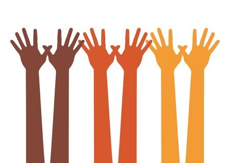 racial diversity: Happy hands.