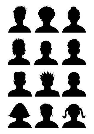 unrecognizable person: 12 avatars.