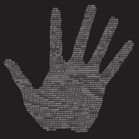 confidentiality: Privacy hand. Illustration